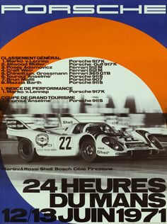 The 2014 round of the 24 Hours of Le Mans starts next weekend, and it will bring Porsche's return to the legendary track. While I haven't seen their latest poster yet, in the meantime, here are the ones from 1970 to 1998.