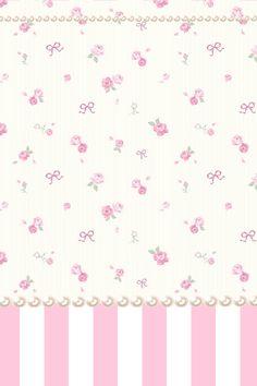 floral stripe Bow Wallpaper, Vintage Flowers Wallpaper, Beautiful Flowers Wallpapers, Kawaii Wallpaper, Cellphone Wallpaper, Pretty Wallpapers, Disney Wallpaper, Pattern Wallpaper, Iphone Wallpaper