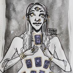 inktober day 16: divination witch