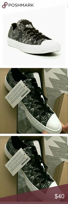 Converse Feather Print~ NWT! Converse Feather Print *NWT! *SUPER CUTE print goes with everything! *a rare find! *women's size 10 * no trades Converse Shoes Sneakers