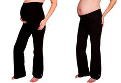FittaMamma Support Maternity Yoga Pants  Loose-leg supportive maternity leggings featuring the roll-up, roll-under waist panel that makes our maternity fitness wear range so popular! Super comfy - your want to wear them all the time.Perfect for pregnancy Pilates, prenatal yoga, walking or relaxing. Super-supportive band helps alleviate pregnancy backache, SPD and other pelvic pain.