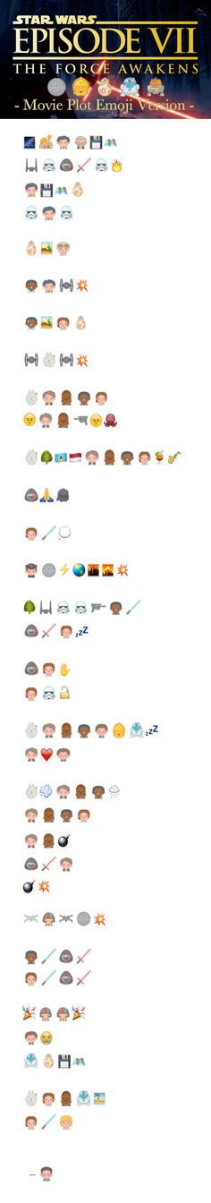 Star Wars 7 Movie Plot Explained By Emoji. Major Spoiler Ahead!