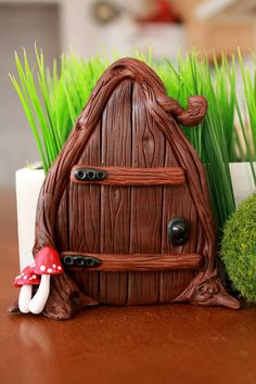 Fairy Door  Polymer Clay  Miniature Garden  Fairy by GnomeWoods