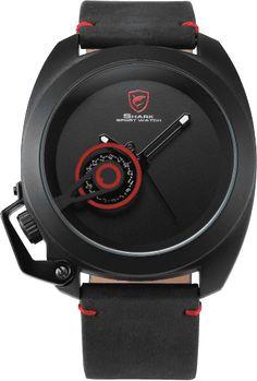 Tawny SHARK - Black & Red Men's Quartz Watch - SHARK Sport Watch Official