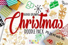 Hand Drawn Christmas Doodles By Seaside Digital