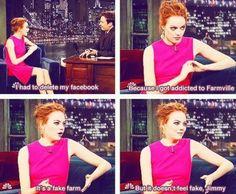 Farmville Emma Stone. lol.
