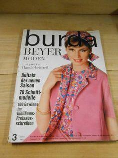 Alte Zeitschrift, Burda Moden, Nähen, Schnittmuster, 1964, Bayer Moden | eBay