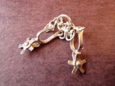 Vintage Sterling Silver PAIR OF STIRRUPS Bracelet Charm