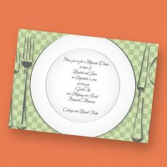 40% OFF   Delicate Dish Green - Invitation   http://mediaplus.carlsoncraft.com/Wedding/Rehearsal-Dinner/2872-EKH42NNA-Delicate-Dish-Green--Invitation.pro