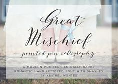 Great Mischief Hand Calligraphy ~ Script Fonts on Creative Market