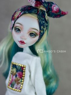 "Monster High Repaint Custom OOAK ""Lana"" by Mango's Cabin- Finally Mango is BACK! #Mattel"