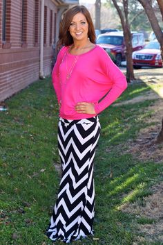 Chevron Chic Maxi Skirt from Amaranth Collection!