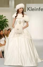 Winter Wedding Gowns With Fur On Dresses