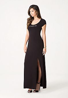 Petite Lace Up Maxi Dress