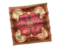 Scarves Hermès Brown - Silk Twill - Scarves 90 - Women | Hermès, Official Website