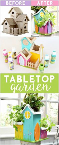 That's My Letter | DIY Tabletop Garden with Patio Paint Outdoor #decoartprojects