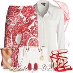A fashion look from May 2014 featuring NIC+ZOE blouses, NIC+ZOE skirts and Betsey Johnson sandals. Browse and shop related looks.