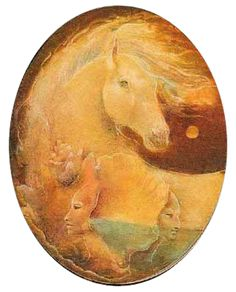 Susan Seddon Boulet - Animal Spirits, [cheval - Horse]  « Age of the Avatar » - 1978?