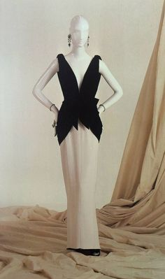 Yves Saint Laurent - Two-Piece Evening Dress - Fall/Winter Collection 1982-83 | From a collection of rare vintage evening dresses at https://www.1stdibs.com/fashion/clothing/evening-dresses/