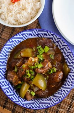 Slimming Eats Slow Cooked Spicy Asian Beef - gluten free, dairy free, paleo, Slimming World and Weight Watchers friendly