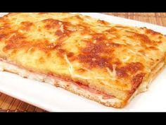 Este pastel de jamón de york y queso bien podría llamarse: ¡qué buena pinta! | La voz del muro Sandwiches, Sandwich Cake, Quiches, Ham And Cheese, Empanadas, 20 Min, International Recipes, Tapas, Food To Make