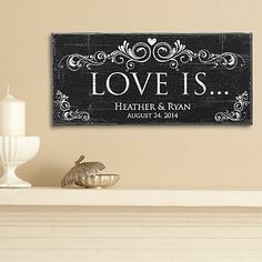 Love Is... Canvas - A Personal Creations Exclusive! A beautiful way to honor a special couple, our art canvas is a touching reminder of the devotion they share.