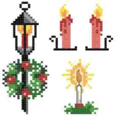Small Christmas Designs 2 - cross stitch pattern designed by Marv Schier. Category: Motifs.