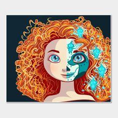 Art Print, Sugar Skull Series: Bearin... | TeePublic