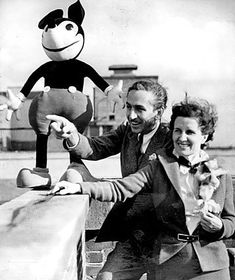 Did you know they actually LIVED at one of the parks? ~~ Walter E. Disney and his wife Lillian, 1935.