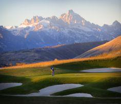 16th Green #Tetons | 3 Creek Ranch Golf Club