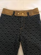 DOLCE & GABBANA D&G Logo SZ 28 Bootcut! From Neiman Marcus RARE Leather Lined