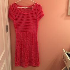 Crotchet swim coverup Coral swim coverup! Perfect for summer! Only worn once. In great condition. Forever 21 Other