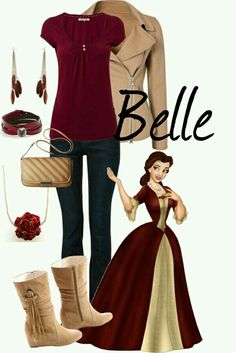 Christmas Belle Disneybound
