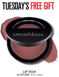 I just want to remind you all that it's Tuesday which means you can score yet another fantastic deal on Smashbox cosmetics… Smashbox Cosmetics offers up a FREE gift with ANY order from 9am-2pm PST every Tuesday and Thursday! Today (until 2pm PT/5pm ET) they are offering a FREE Lip Tech in Peony (a $24 [...]