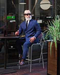 men's suits – High Fashion For Men Blazer Outfits Men, Stylish Mens Outfits, Dapper Gentleman, Dapper Men, Sharp Dressed Man, Well Dressed Men, Double Breasted Pinstripe Suit, Navy Pinstripe Suit, Mens Hairstyles With Beard