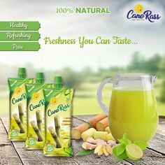The tasty sweetness of nature now in a packet.Canerass has natural sugar which is healthy and refreshing. Canerass will energize and refresh you naturally. In short, it's your favorite tasty, healthy and hygienic desi juice. Sugarcane Juice, Juice Diet, Natural Sugar, Healthy Nutrition, Desi, Tasty, Pure Products, Canning, Nature