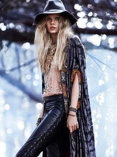 Black Girl Fashion, Curvy Women Fashion, Boho Fashion, Womens Fashion, Fashion Tips, Hippie Style, Bohemian Fall Outfits, Boho Inspiration, Bohemian Mode