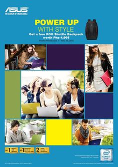 Power-up with Style - Get free ROG shuttle backpack when you purchase ASUS notebook