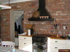 плитка, кухня, кирпичная стена