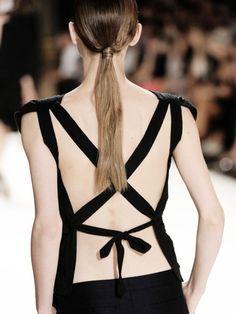 Dries Van Noten S/S 2012.  Beautiful back detail.