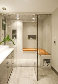 Two-Person Shower Rooms | Ceiling, Glass and Walls