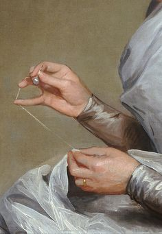 Catherine Brass Yates by Gilbert Stuart, (detail)