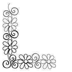 Gerber Daisy Corner - Digital - Quilts Complete - Continuous Line ... - ClipArt Best - ClipArt Best