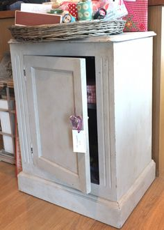 Grey and Lavender Pot Cupboard