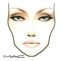 Mac Face Charts ❤ liked on Polyvore featuring face chart, facechart and faces