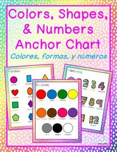 Bilingual Illustrated Posters: Colors, Numbers, and Shapes (Spanish & English)Help your students learn new vocabulary quickly and make connections between languages with these illustrated posters. Use them in a center, on a bulletin board, or print for individual student reference.