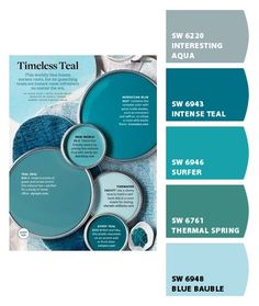 Paint colors from Chip It! by Sherwin-Williams Teal Front Doors, Teal Door, Front Door Paint Colors, Painted Front Doors, Bedroom Paint Colors, Paint Colors For Home, House Colors, Turquoise Paint Colors, Turquoise Painting