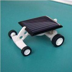 DIY Mini Solar Car Educational Gift Solar Power toy Black
