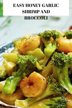 Quick, simple and delicious. This honey garlic shrimp and broccoli is made using only 6 ingredients and is ready in under 10 minutes. Shrimp And Broccoli, Garlic Shrimp, Broccoli Recipes, Shrimp Recipes, Fish Recipes, Asian Recipes, Chinese Recipes, Ethnic Recipes, Cooking Trout