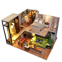 Cheap miniature dollhouse, Buy Quality doll house miniatures directly from China house miniature Suppliers: CUTEBEE DIY Doll House Miniature Dollhouse With Furnitures Wooden House Miniaturas Toys For Children New Year Christmas Gift M30
